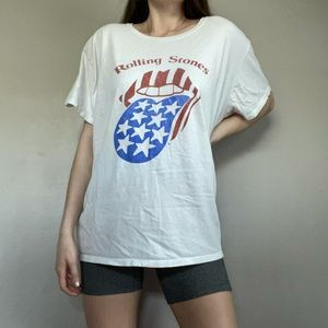 The Rolling Stones Tongue Graphic Band Tee Shirt